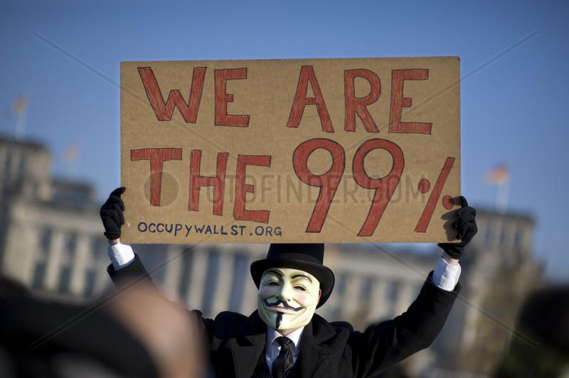 Banken in die Schranken - Occupy Protest,  Berlin