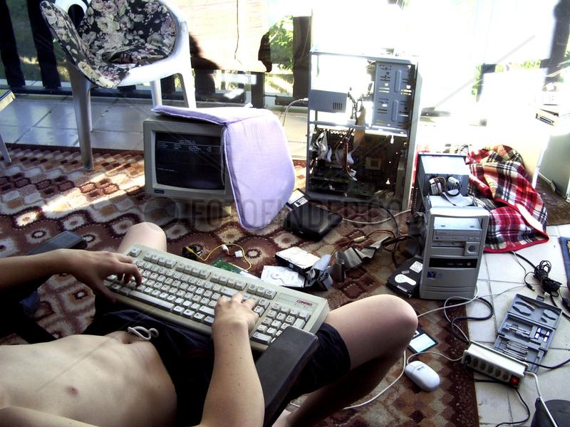 Computerfreak am Werken
