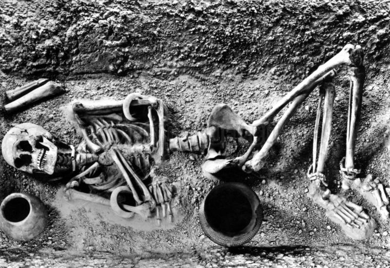 Frauenskelett,  4.Jahrtausend v.Chr.