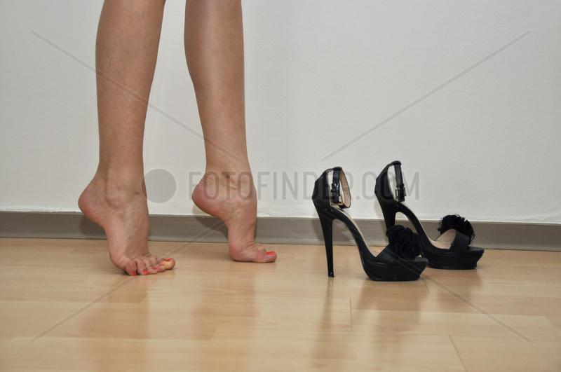 Fehlstellung der Fuesse durch High Heels