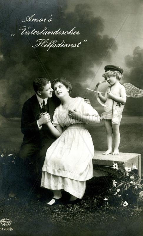 Paar mit Amor,  1920