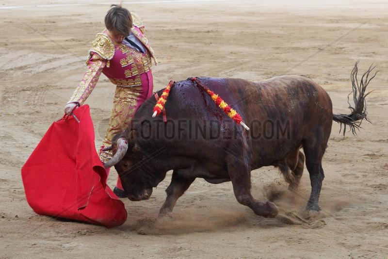 Barcelona (Spain) - Bullfight,  Corrida,  Stierkampf