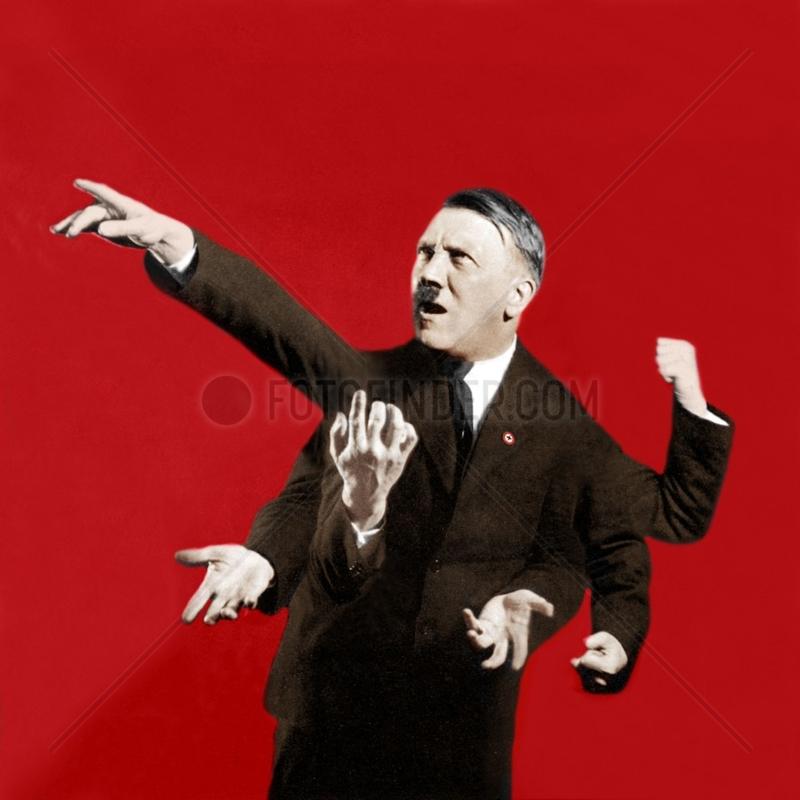 Adolf Hitler gestikuliert