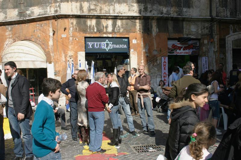 Strassenfest in der Judische Ghetto von Rom
