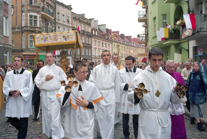 Fronleichnamsprozession in Poznan,  Polen