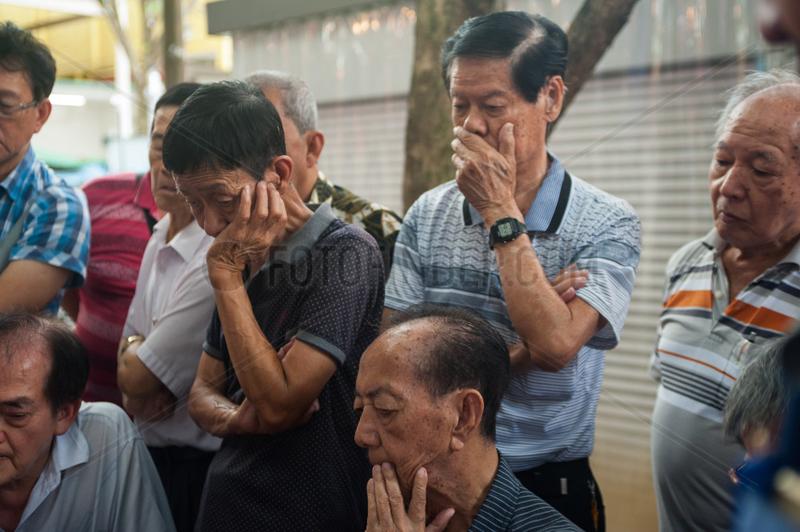 Singapur,  Republik Singapur,  Zuschauer in Chinatown