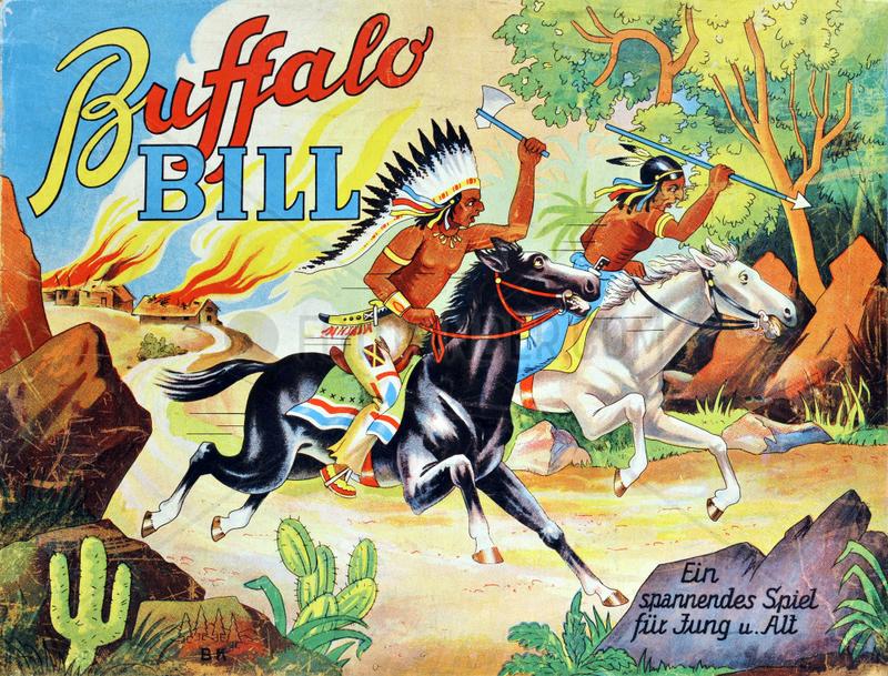 Buffalo Bill,  Cowboy und Indianer,  Gesellschaftsspiel,  1960