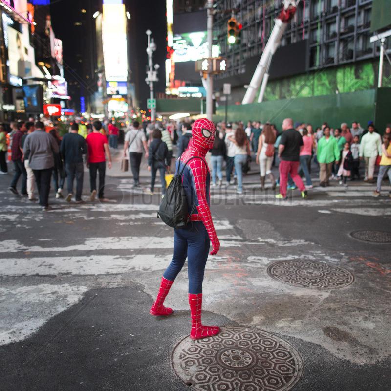 Spiderman auf dem Times Square
