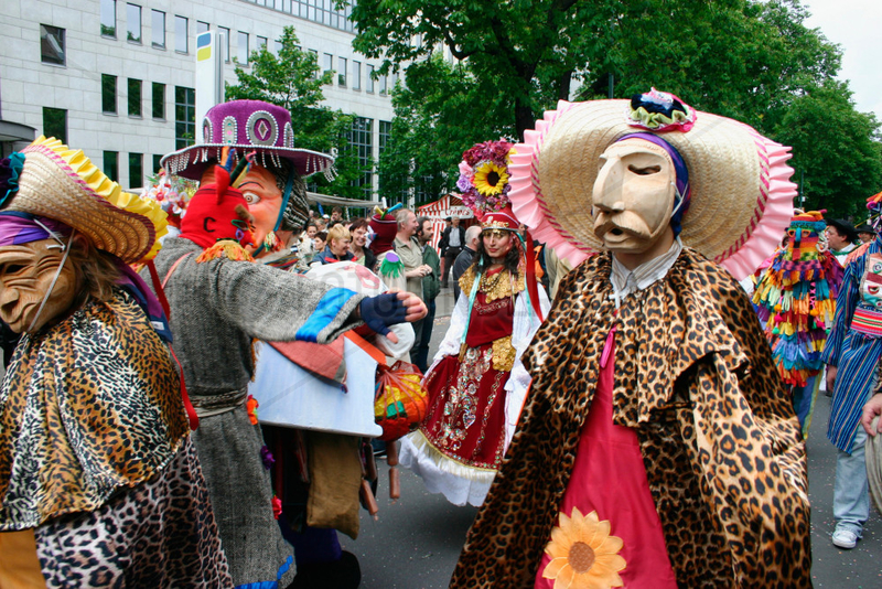 Berlin - bolivian dancers at the carnival of culture