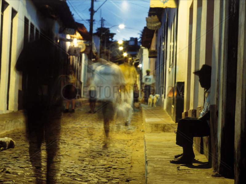 Strassenszene im brasilianischen Lencois