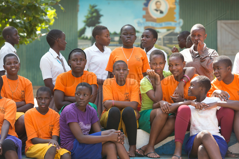 Bombo,  Uganda - Schuelerinnen des Don Bosco Vocational Training Centre,  Bombo.