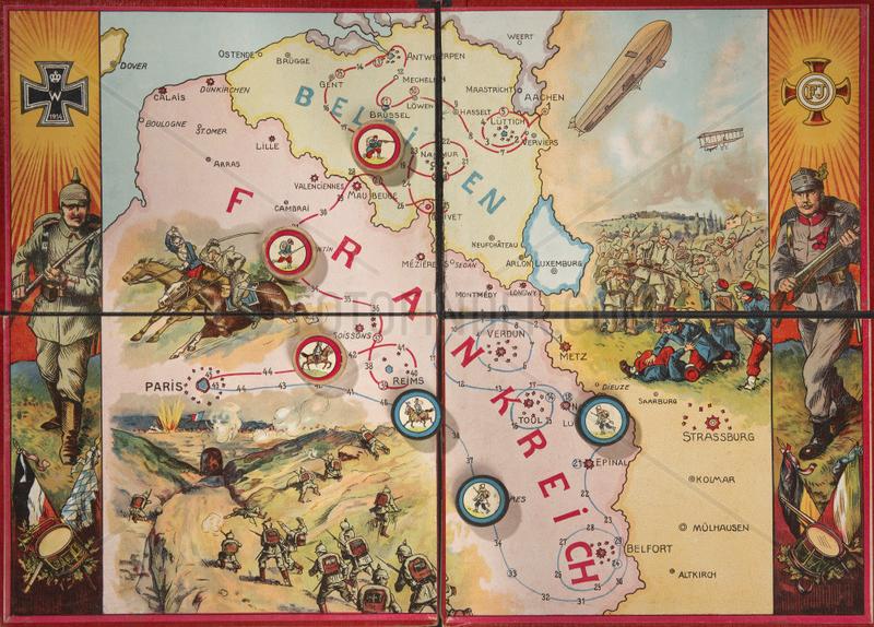 Erster Weltkrieg,  altes Wuerfelspiel,  1915