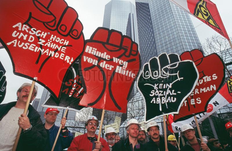 Protest gegen die Deutsche Bank