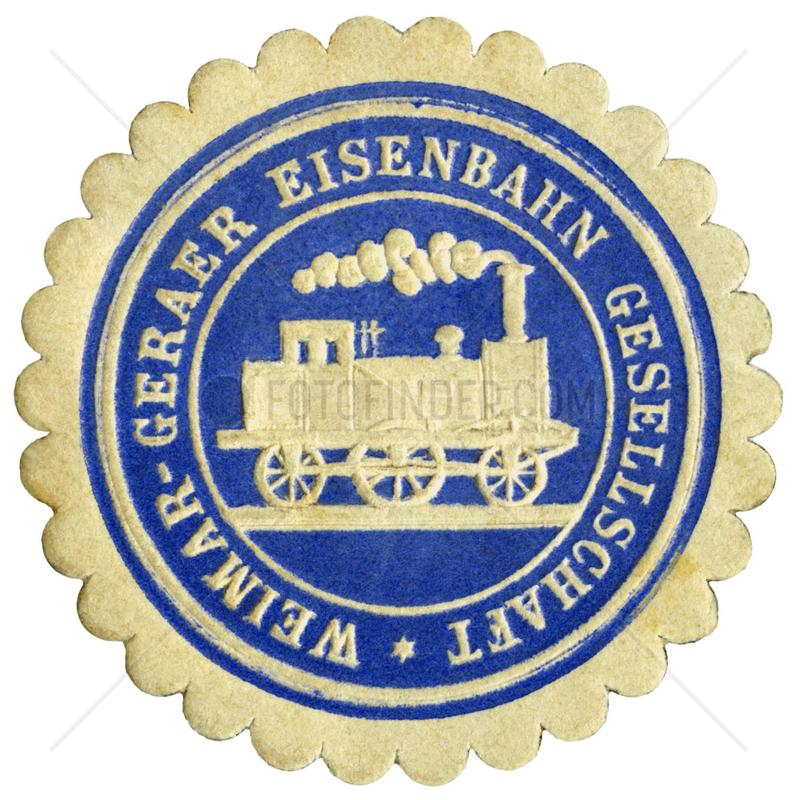 Papiersiegel Eisenbahngesellschaft,  1880