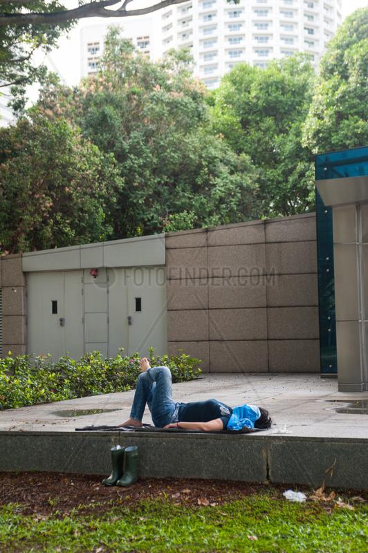 Republik Singapur,  Nickerchen im Freien