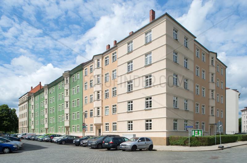 Dresden,  Deutschland,  Wohnbebauung in Dresden-Johannstadt