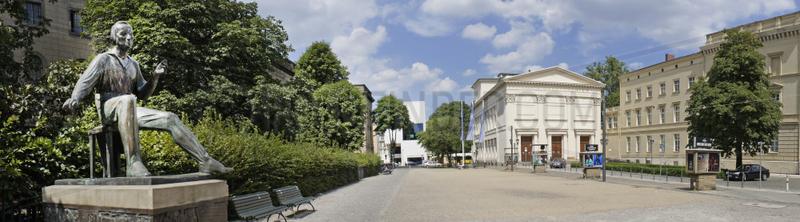 Deutschland,  Berlin,  Heinrich Heine Denkmal am Heinrich Heine Platz