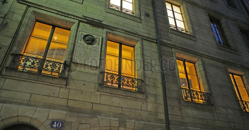 Schweiz,  Genf,  Museum im Geburtshaus von Jean-Jacques Rousseau
