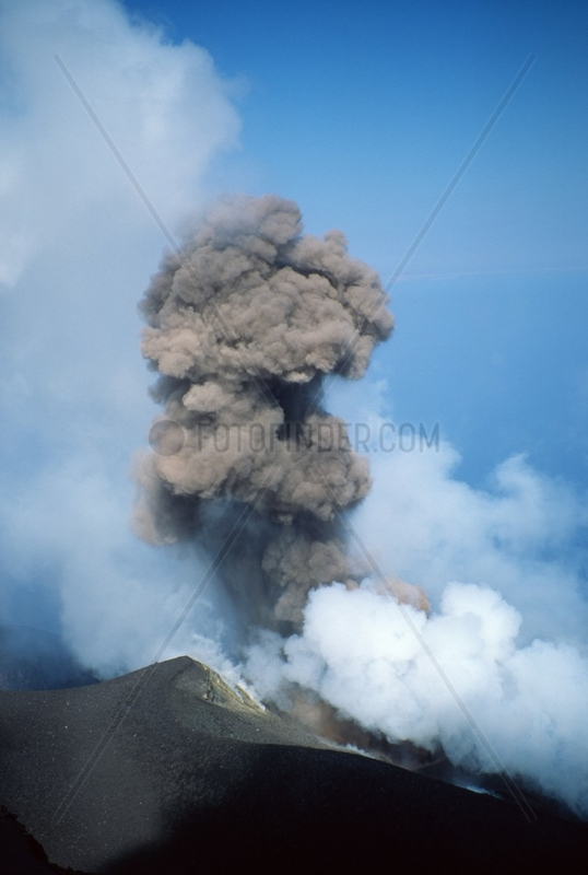 Stromboli Vulkanausbruch