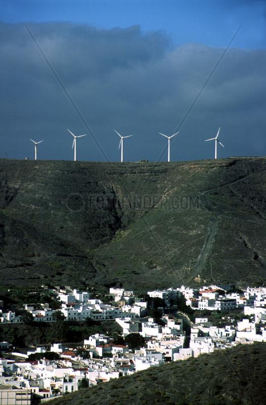 Dorf Windkraftwerk