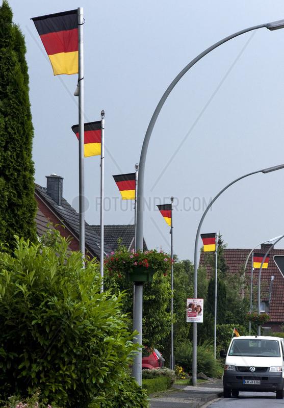 Deutschlandfahnen zur Fussballeuropameisterschaft