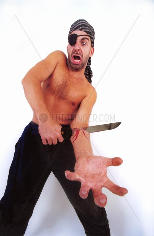 Pirat mit Messer