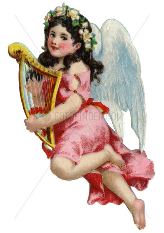 Engelchen spielt Harfe,  Poesiebild,  1929