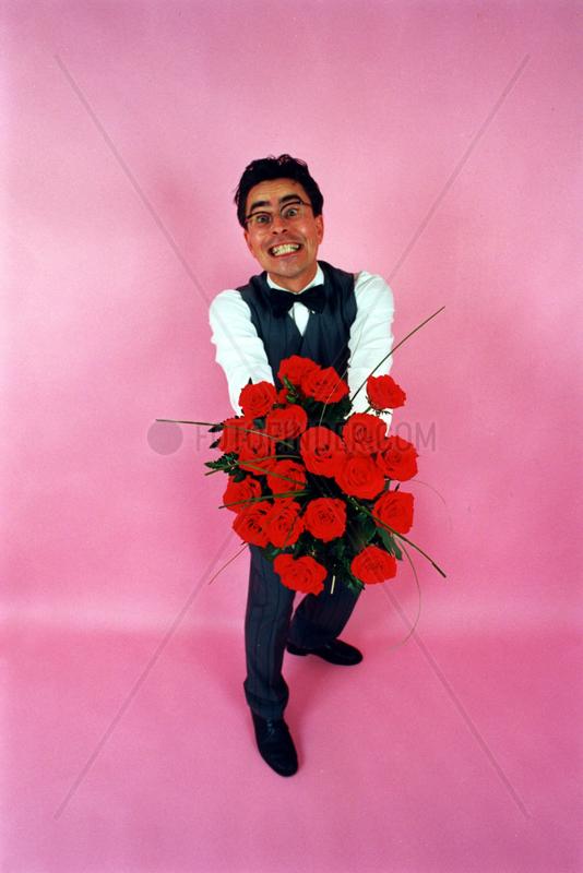 Kavalier mit Rosen