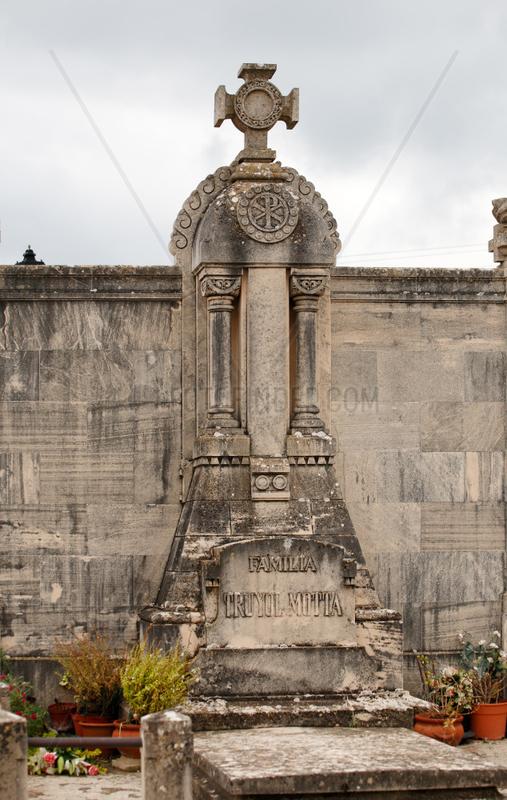 Alcudia,  Mallorca,  Spanien,  Grab auf dem staedtischen Friedhof