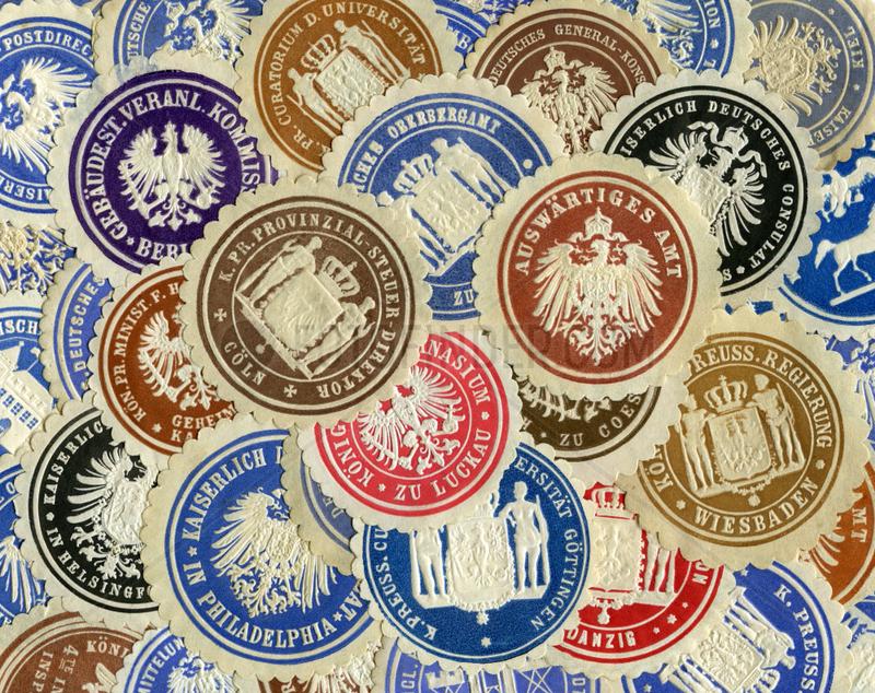 historische Dienstsiegel,  Papiersiegel,  1890