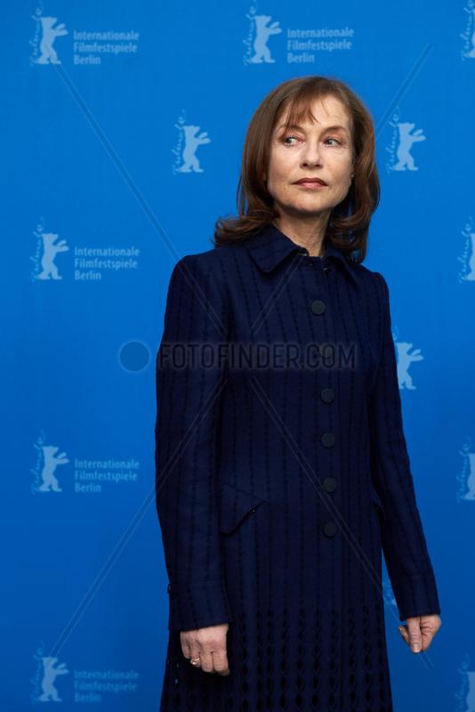 Berlin,  Deutschland,  Schauspielerin Isabelle Huppert auf der Berlinale