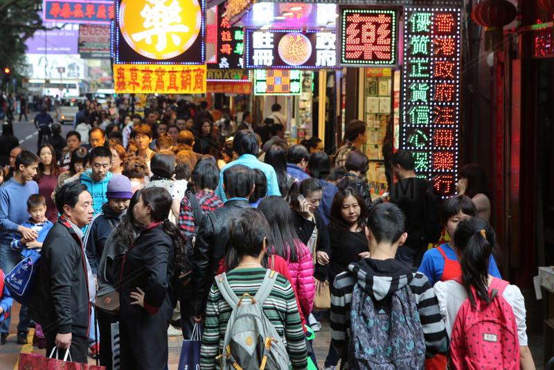 Hong Kong,  China,  Menschen auf der Strasse