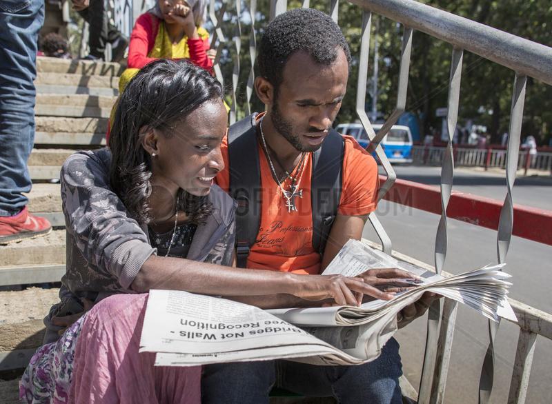 Arbeitssuchende in Addis Abeba