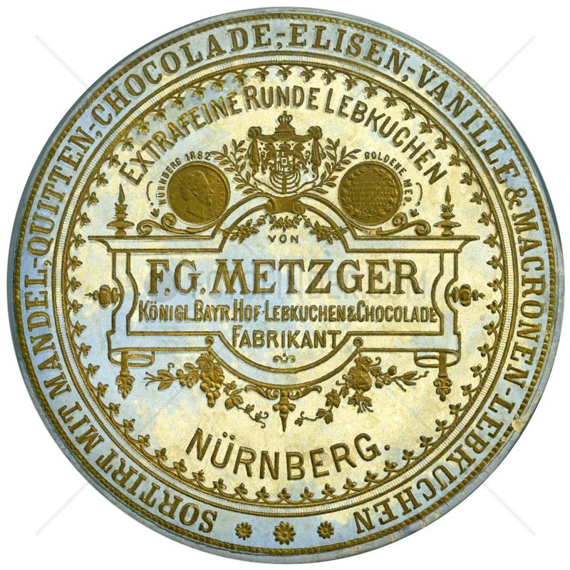 Nuernberger Lebkuchen,  F.G.Metzger,  1885