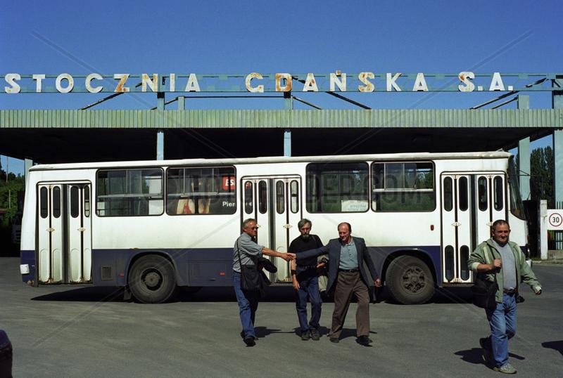 Eingangstor der Danziger Werft,  Polen