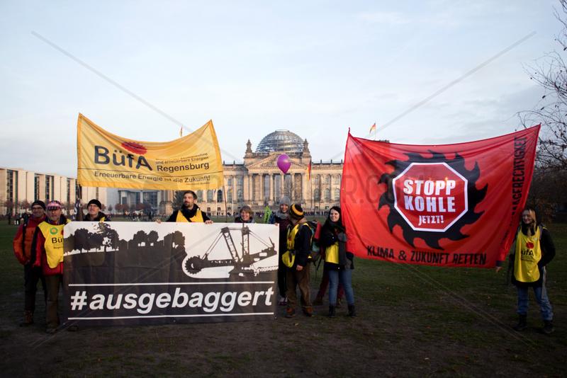 anti coal Protest,  Demo Kohle stoppen