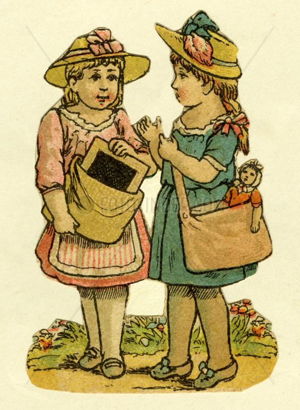 zwei Freundinnen,  Illustration,  1881