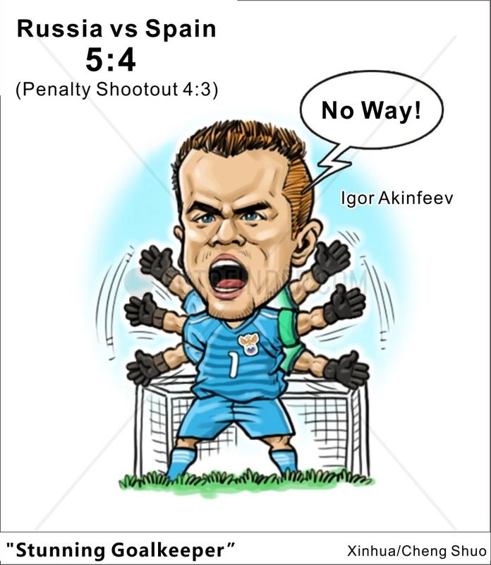 [COMICS]RUSSIA-2018 WORLD CUP-SPAIN VS RUSSIA