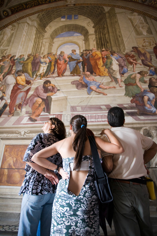 Vatikanstadt,  Staat Vatikanstadt,  Schule von Athen in der Stanza della Segnatura
