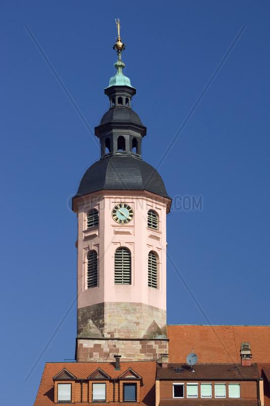 Baden-Baden,  der Turm der Stiftskirche
