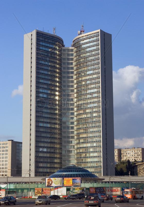 Moskau,  Blick auf das Comecon Gebaeude