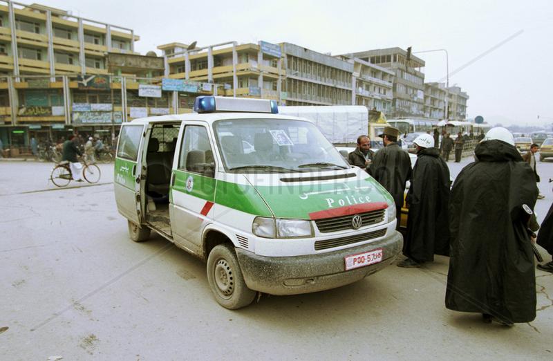 Bewaffnete Strassenpolizei im Centrum von Kabul.