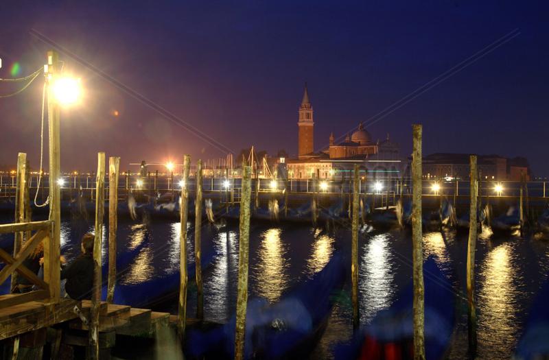 Venedig,  Gondelstation am Markusplatz