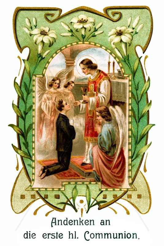 Andenken an die Erstkommunion,  um 1907