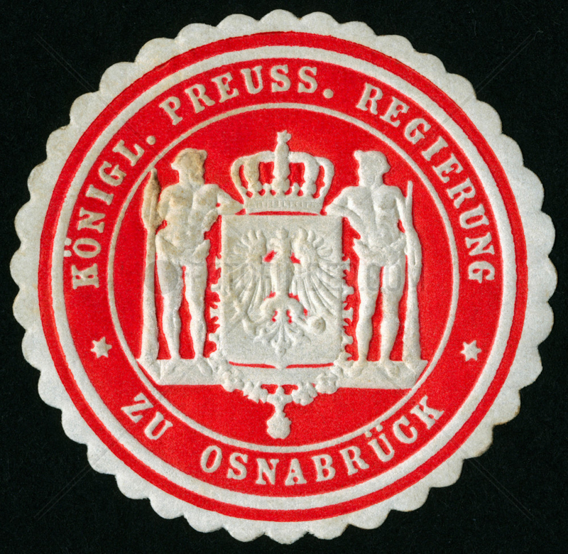 Siegelmarke Osnabrueck,  um 1895