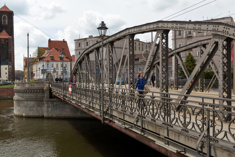 Breslau,  Polen,  die Mlynskie-Bruecken