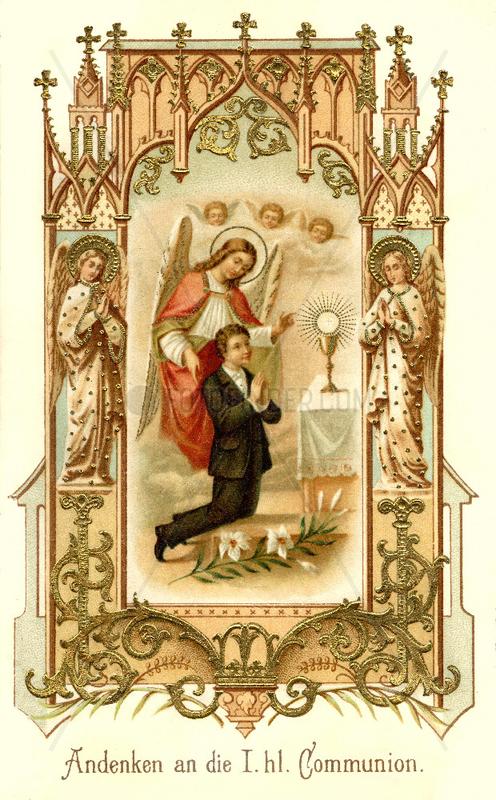 Andenken an die Erste Heilige Kommunion,  1896