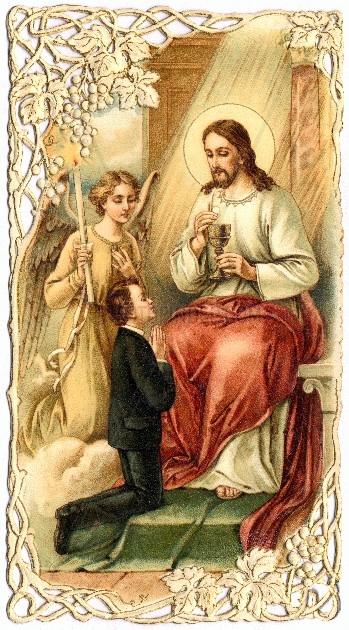 Andenken an die Erstkommunion,  1909