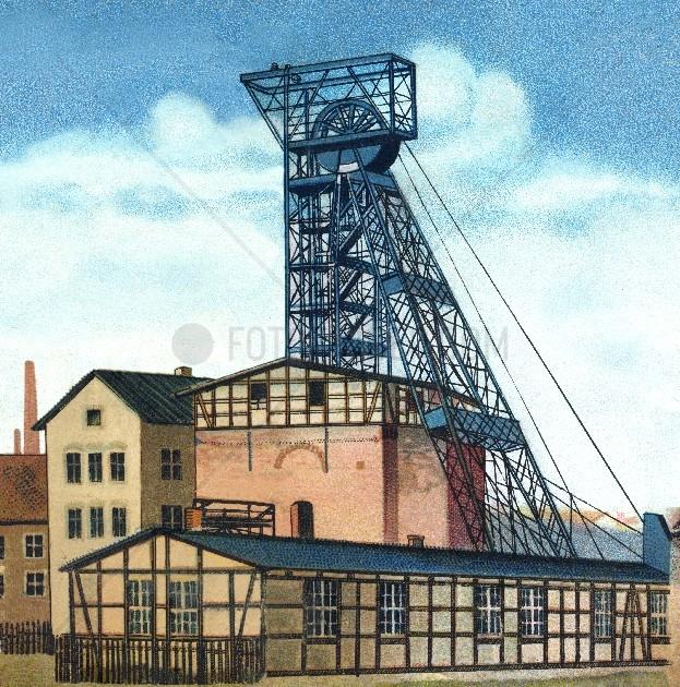 Foerderturm eines Bergwerks 1898