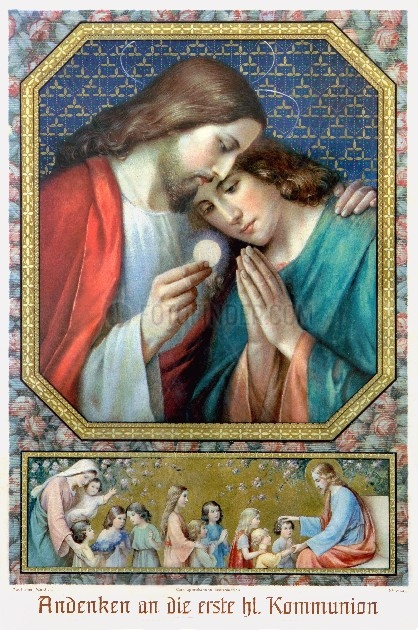 Andenken an die Erstkommunion 1915
